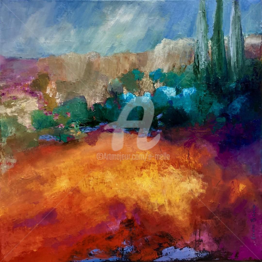 """Eliane Boivin - """"Roussillon"""" 80x80"""