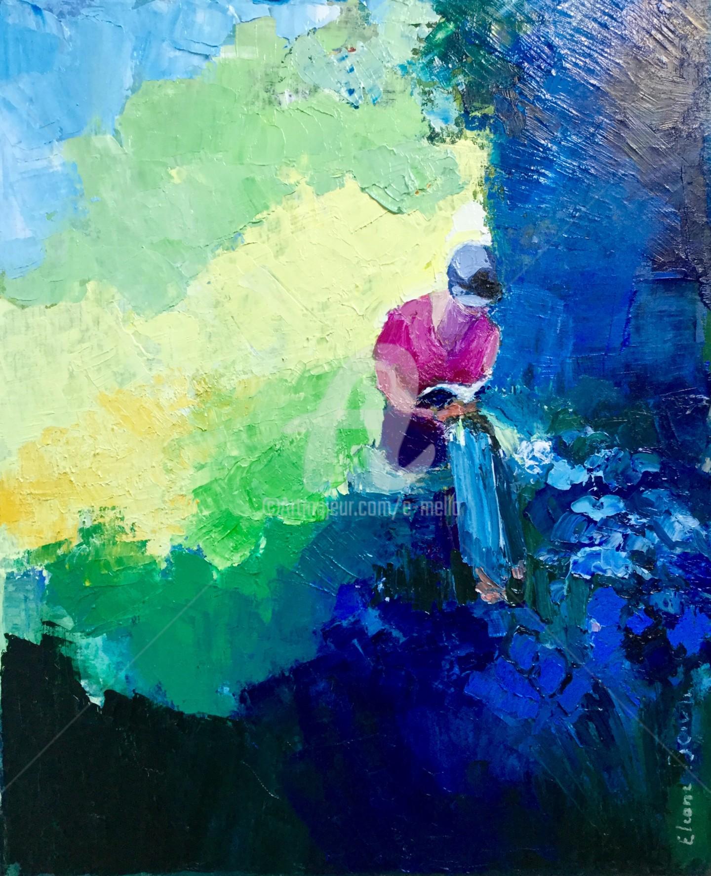 "Eliane Boivin - ""Isabelle au jardin"" 37x45"