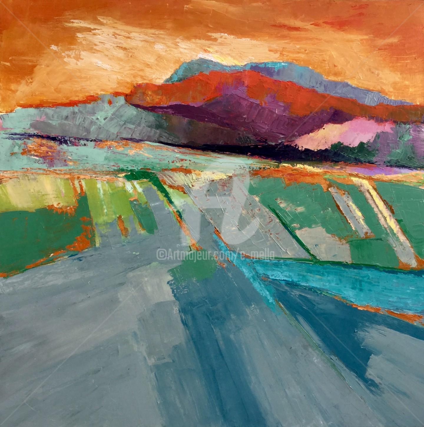 Eliane Boivin - La montagne abstrait 12