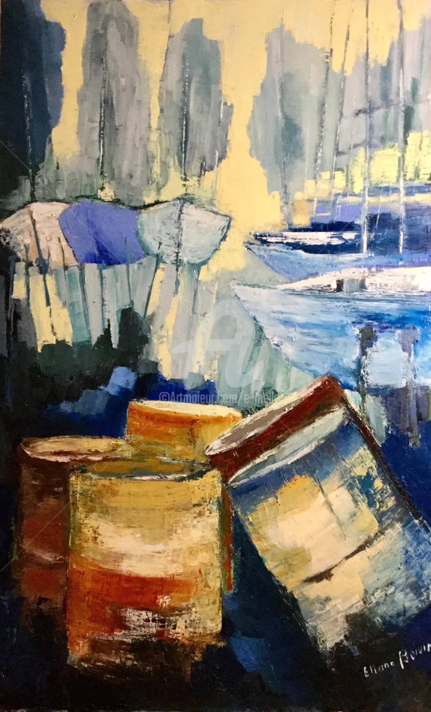 Eliane Boivin - Les bidons du port à sec (4)