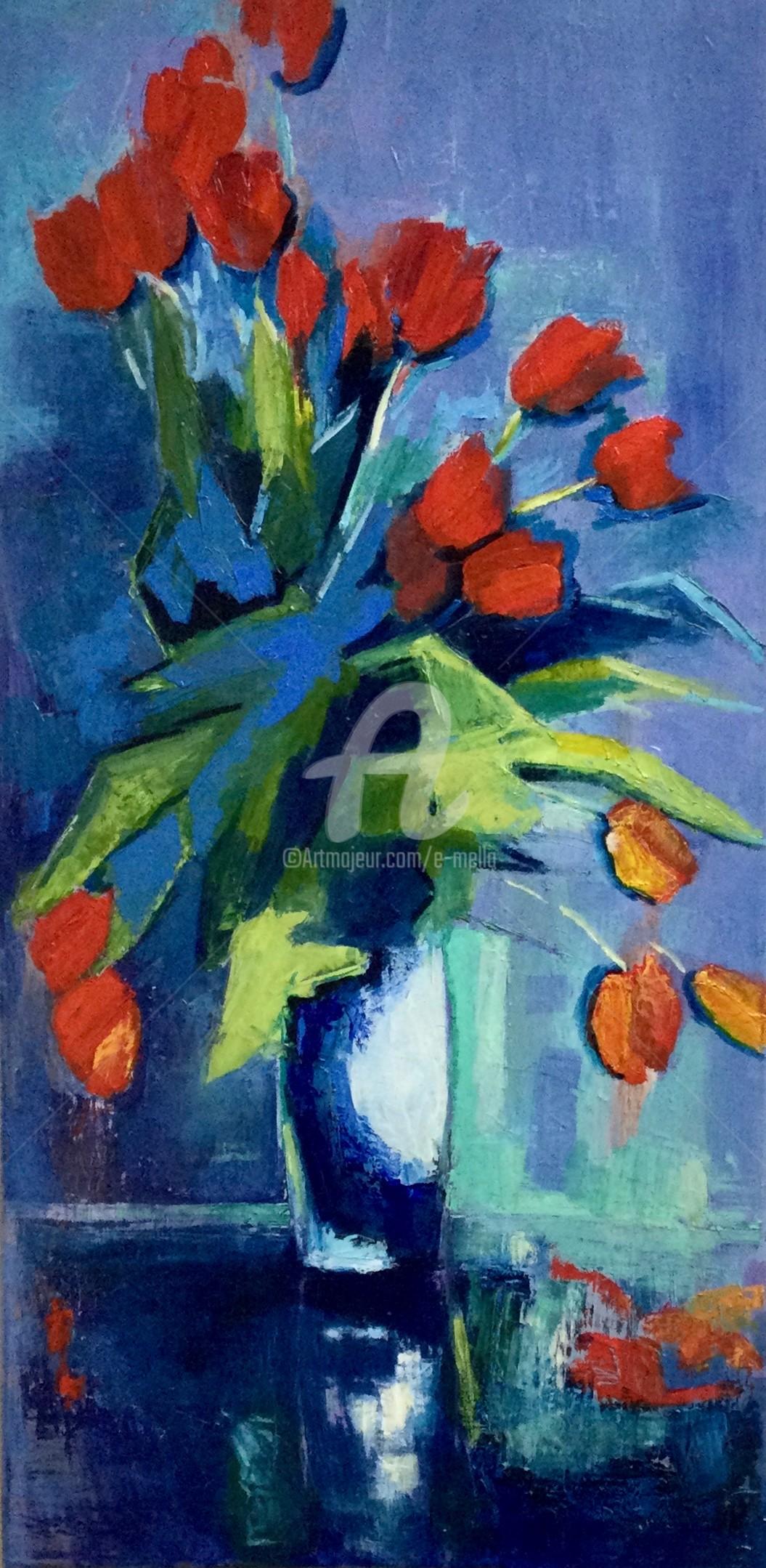 Eliane Boivin - Tulipes rouges