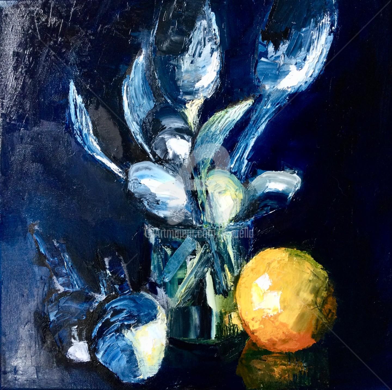 Eliane Boivin - Argent et orange