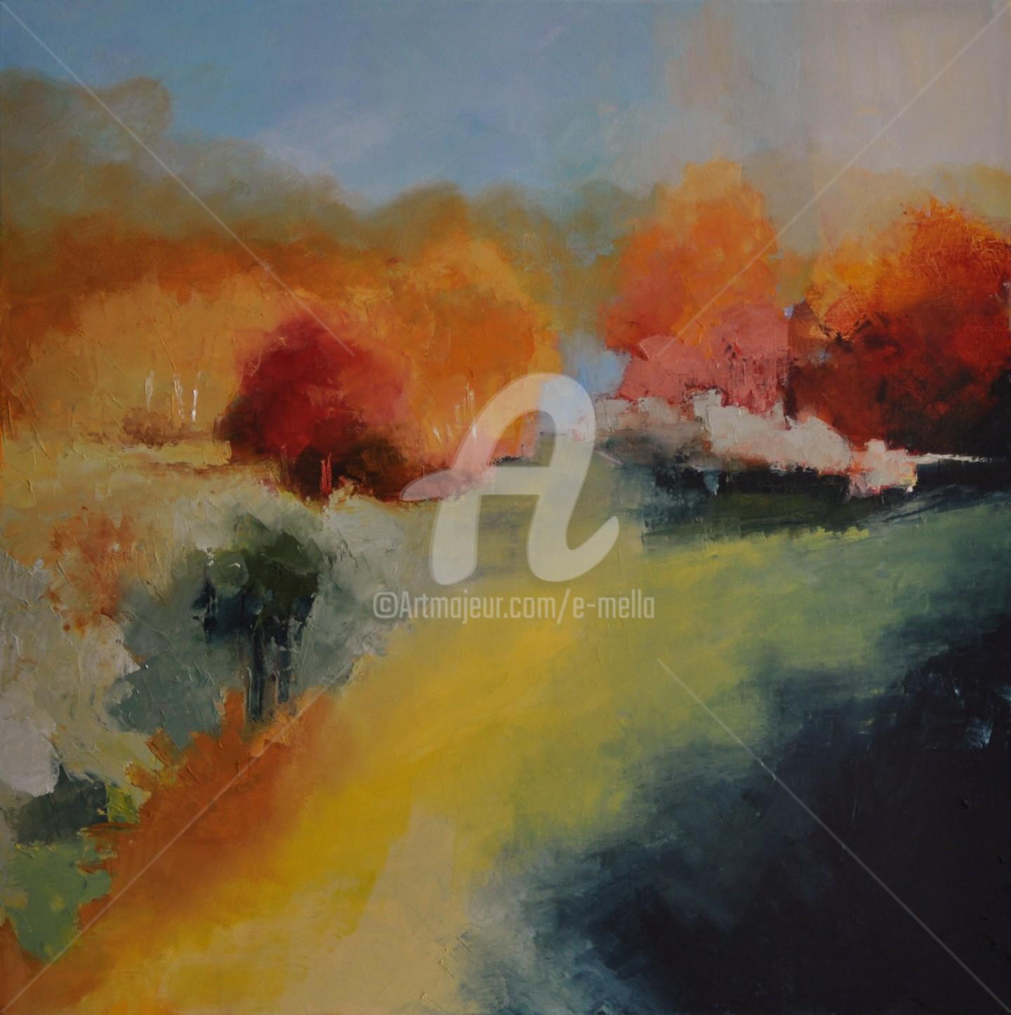 """Eliane Boivin - """"Peinture d'automne"""" (1) 60X60"""