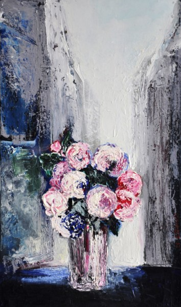 """Roses anciennes pour Sara"" 30x50"