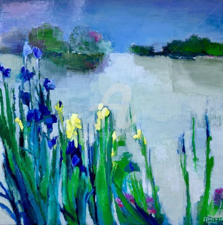 Eliane Boivin - Iris sauvages 80x80