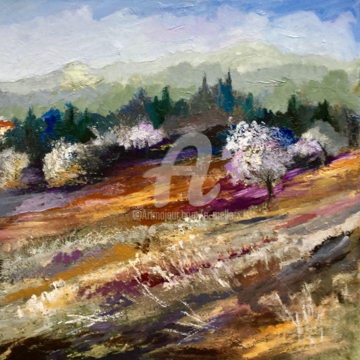 Eliane Boivin - Printemps en montagne 50x50