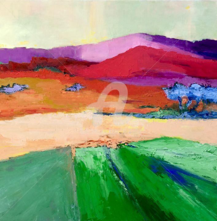 Eliane Boivin - La montagne (abstrait 11) 80x80