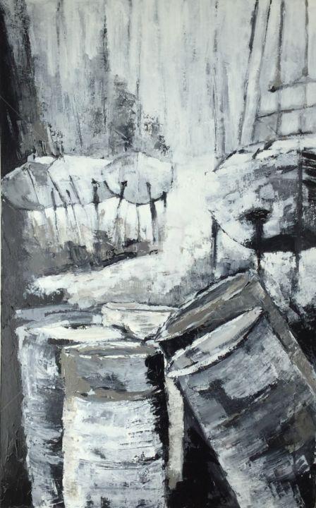 Eliane Boivin - Les bidons du port à sec (3)