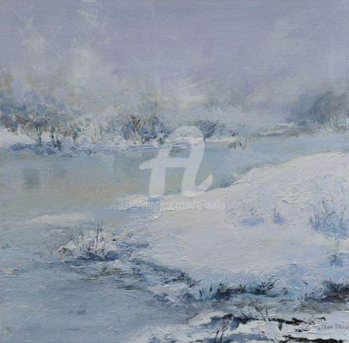 """""""Lac sous la neige"""" 50X50"""
