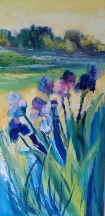 """""""Les iris""""50x100"""