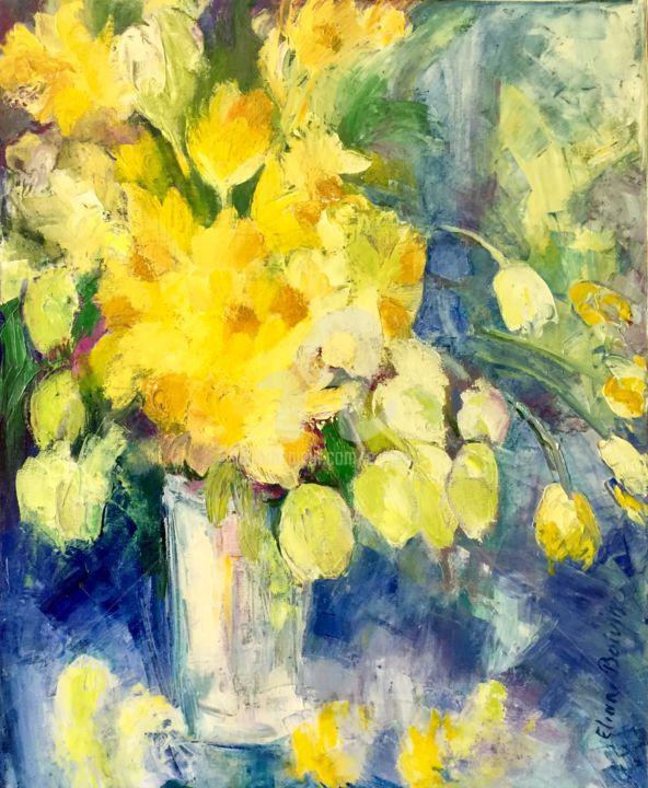 """""""Jonquilles et tulipes"""" 50x65"""